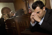 Guilty Man In Court Room — Stock Photo