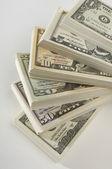 Stapel von uns währung — Stockfoto