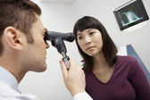 Doctor Examining Patient's Eye — 图库照片