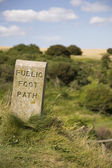 Stone Sign Marking Footpath — Stock Photo