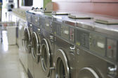 Washing Machines In Launderette — Stok fotoğraf