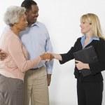 Financial Advisor Meeting Senior Couple — Stock Photo