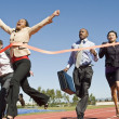 Business Crossing The Winning Line — Stock Photo