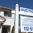 Stock Photo: Auction Sign Outside House