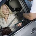 Man Assaults Woman With Firearm Through Car Window — Stock Photo #22151793