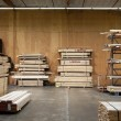 Wooden plywood stored in warehouse — Stock Photo #22152447