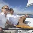Couple Relaxing In Sailboat — Stock Photo