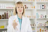 Portrait Of Female Pharmacist — Stock Photo