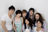 Young friends group smiling together — Stock Photo
