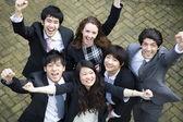 Businesspeople celebrating victory — Stock Photo