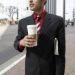 Businessman with Cup of Coffee — Stock Photo #33794953