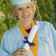 Stock Photo: Senior graduate