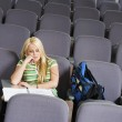 Student sitting in lecture hall — Stock Photo #33795971