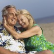 Middle-Aged Couple at Beach — Stockfoto