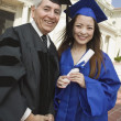 Stock Photo: Deand graduate