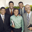 Stock Photo: Male churchgoers