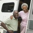 Stock Photo: Couple with Their RV