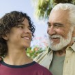 Boy with Grandfather — Stock Photo