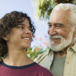 Boy with Grandfather — Stock Photo #33796913