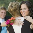 Stock Photo: Friends Hugging at Prom