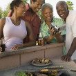 Family at Barbecue — Stock Photo