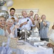 Family and friends toasting champagne — Stock Photo #33797697
