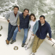 Family Together on Boat — Stock Photo