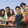 Friends at Picnic grill — Stock Photo