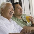 Father and son relaxing  — Stock Photo