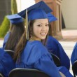 Graduates listening to speaker — Stock Photo