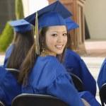 Graduates listening to speaker — Stock Photo #33799199