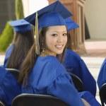Graduates listening to speaker — Stock Photo