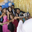 Stock Photo: Teenagers Hamming It Up for Prom Photo