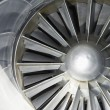 Airplane turbine — Stock Photo
