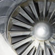 Stock Photo: Airplane turbine