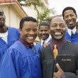 Stock Photo: Preacher and Choir