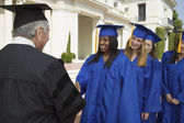 Graduate Receiving Diploma — Stock Photo
