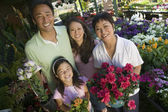 Family Shopping for Plants — Stock Photo