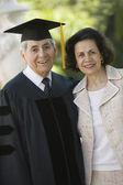 Absolwent wyższych i żona — Zdjęcie stockowe