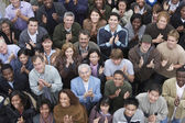 Multiethnic people clapping at rally — Stock Photo