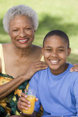 Boy with grandmother — Stock Photo