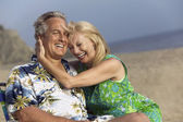 Middle-Aged Couple at Beach — Stock Photo