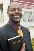 Smiling african Preacher — Stock Photo
