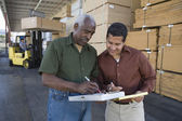 Warehouse workers — Stock Photo