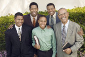 Male churchgoers — Stock Photo
