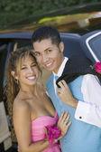 Well dressed teenage couple — Stock Photo