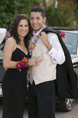 Couple Dressed for Prom — Stock Photo