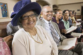 Senior Woman at Church — Stock Photo