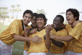 Players celebrating victory — Stock Photo
