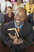 Preacher and Congregation — Stock Photo